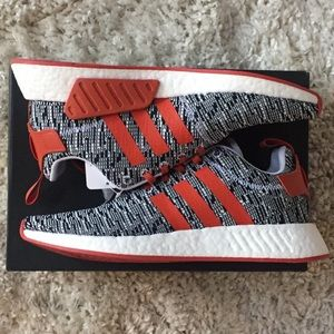 1660343d6ee94 adidas Shoes - Adidas NMD R2 White Grey Solar Red CQ0720 Boost 11